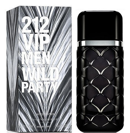 Мужская туалетная вода Carolina Herrera 212 vip men WILD PARTY Limited edition, Edt 100ml