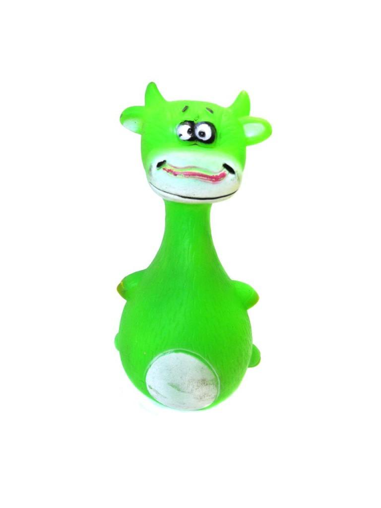 Виниловая игрушка-пищалка для собак Чокнутая Зверюшка, 13.5 см (Вид: Зелёная собака )