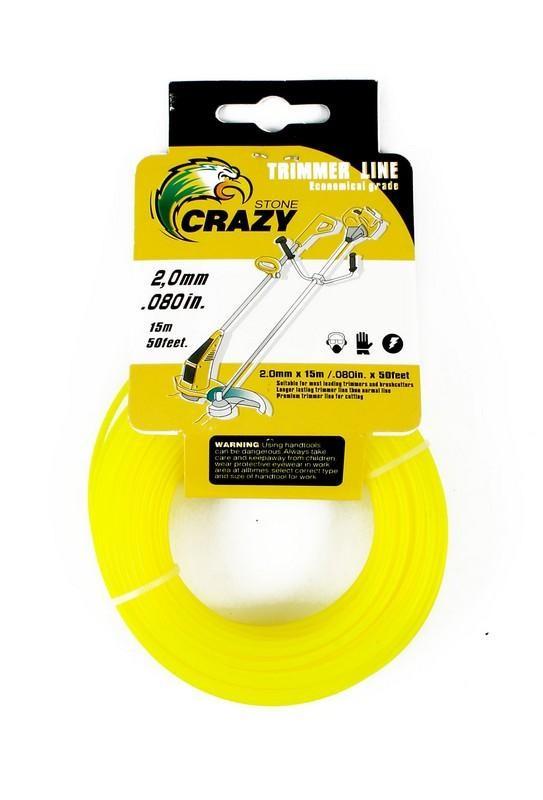 Леска для триммера Crazy Stone, 2.0 мм (Цвет: Салатовый )