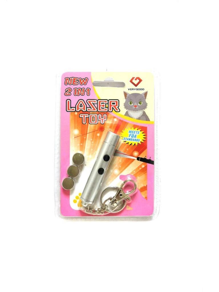 Игрушка для кошек со светящимся LED-лучом Laser Toy (Цвет: Фиолетовый )