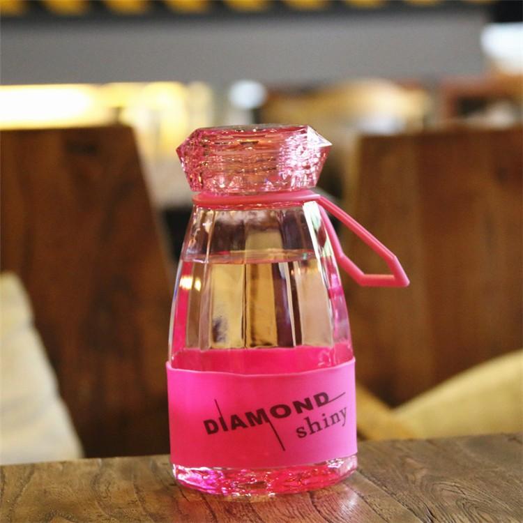 Бутылка для воды Diamond Bright, 450 мл (Цвет: Розовый )