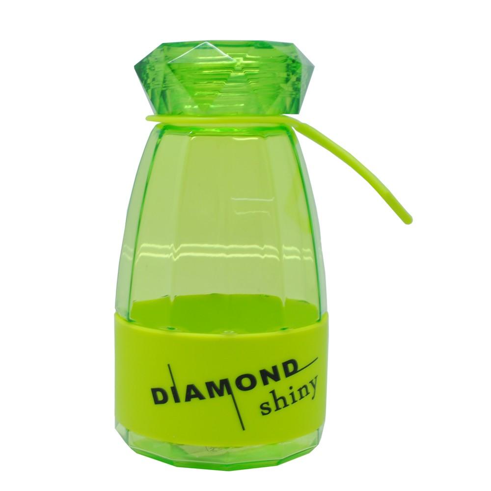 Бутылка для воды Diamond Bright, 450 мл (Цвет: Зелёный )