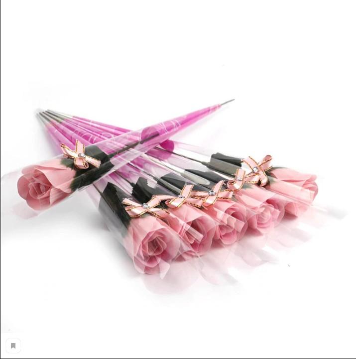Роза из парфюмированного мыла I Love You, 40 см (Цвет: Красный )