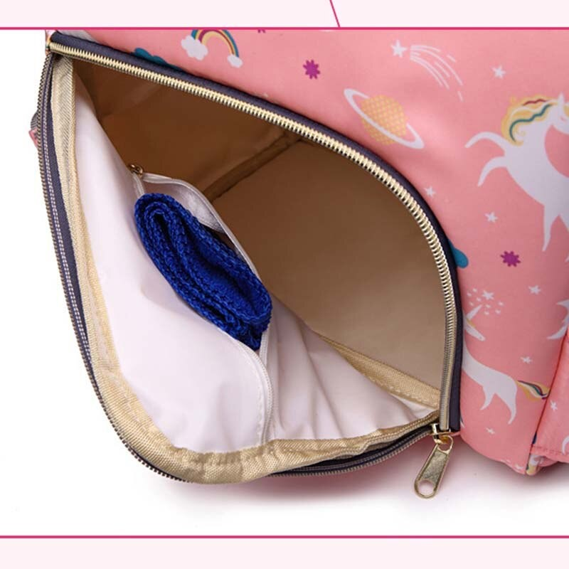 Сумка-рюкзак для мамы Mummy Bag Единорог (Цвет: Розовый )