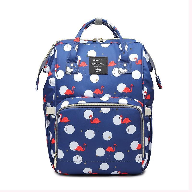 Сумка-рюкзак для мамы Mummy Bag Фламинго (Цвет: Серый )