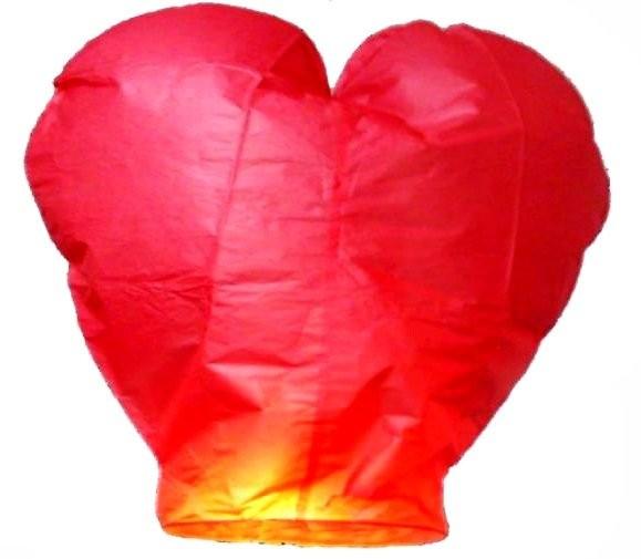 Небесный фонарик желаний Сердце (Цвет: Розовый )