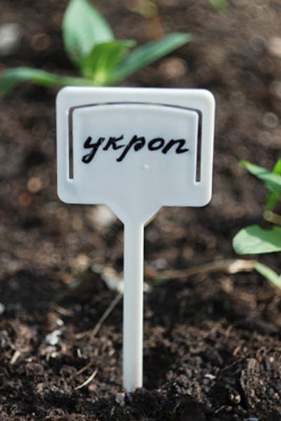 Табличка для посадки растений, 10 шт (Цвет: Белый )