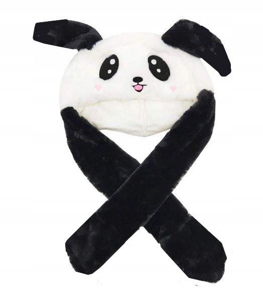 Светодиодная шапка с подвижными ушками Панда