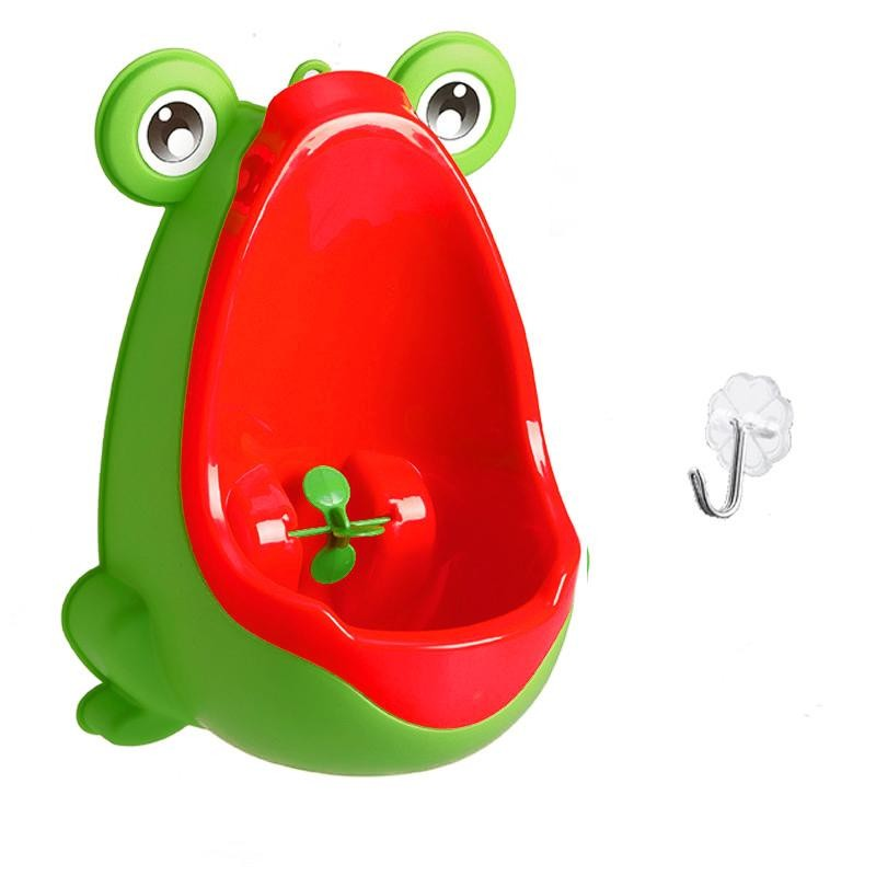 Писсуар для мальчиков с прицелом Лягушка (Цвет: Зелёный/Красный )